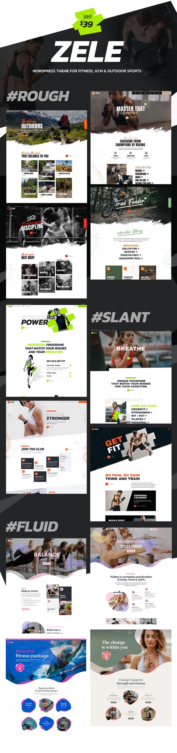 Zele - Fitness Gym & Sport WordPress Theme - 3